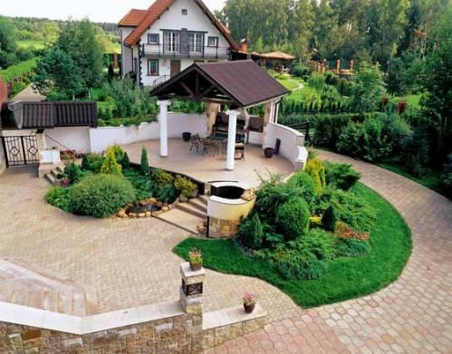 Сельский стиль в ландшафтном дизайне
